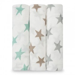 MUSELINA BAMBU 9207 MILKY WAY (PACK 3)
