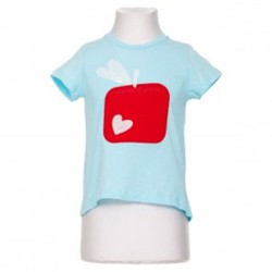 APPLE TSHIRT BLUE