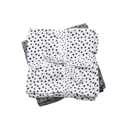 PACK 2 MUSELINAS MINI HAPPY DOTS GREY