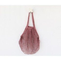 BOLSA MALLA ESTILO FRANCES ORGÁNICA DUSTY ROSE