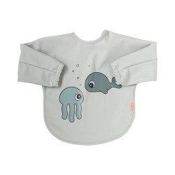 BABERO CON MANGAS 6-18 MESES SEA FRIENDS GRIS