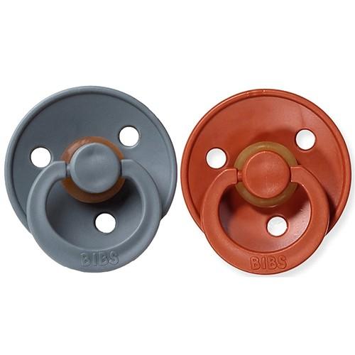 2 Chupetes BIBS Colours Rust/Smoke 0-6