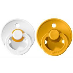 2 Chupetes BIBS Colours Mustard/White Denim 0-6