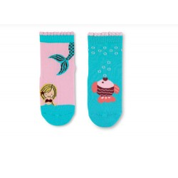 PACK 2 CALCETINES ANTIDESLIZANTES SIRENAS/PECES