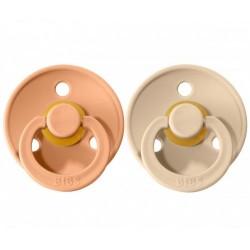 2 Chupetes BIBS Colours Vanilla/Peach 0-6