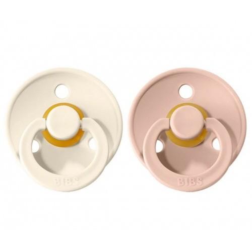 2 Chupetes BIBS Colours Ivory/Blush 0-6
